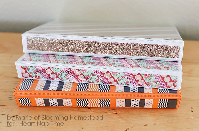Washi tape binders