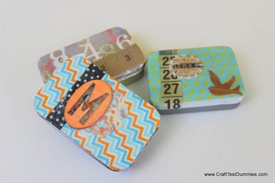 Washi Tape Altoid Tin makeover