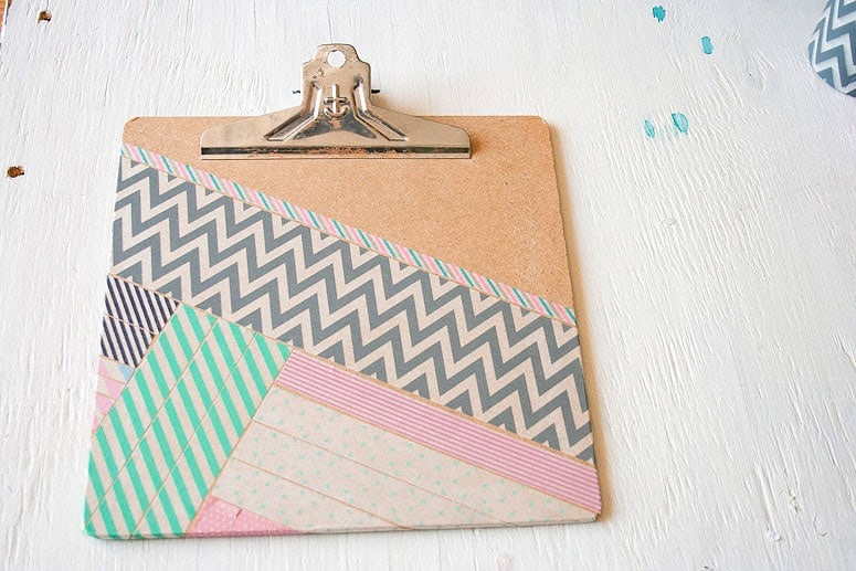 Washi Tape clipboard makeover