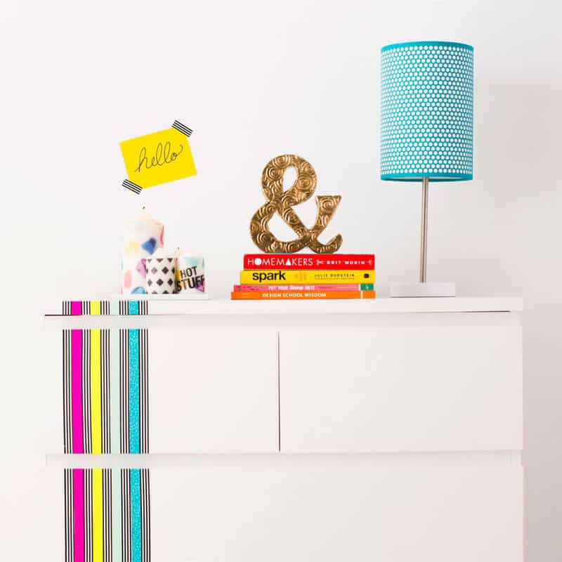 Washi Tape furniture makeover. IKEA hack.