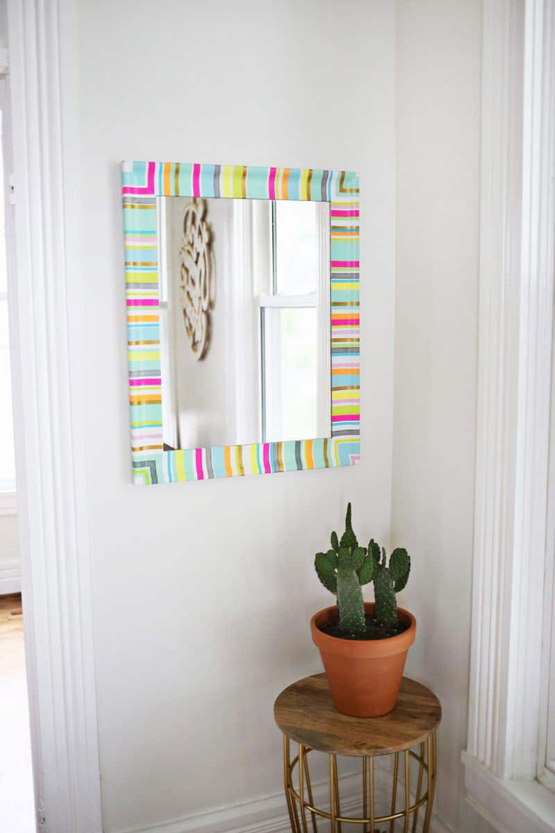 Washi Tape mirror makeover