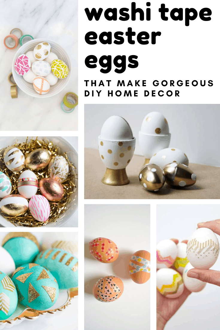 Wow! So many great ways to decorate your easter eggs with washi tape!