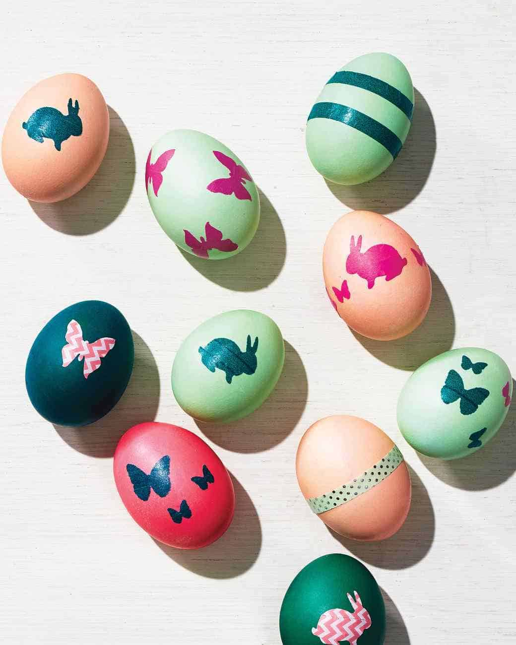 Bunny Tape Easter Eggs