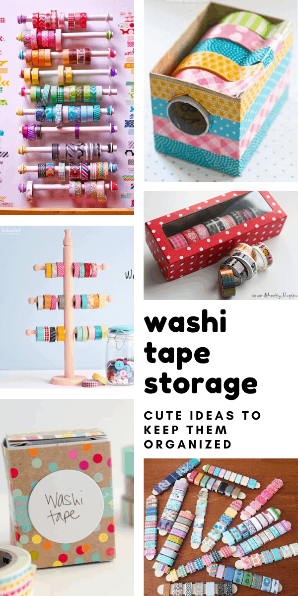 So many cute ideas for DIY washi tape storage organziers so I can keep my stash under control!