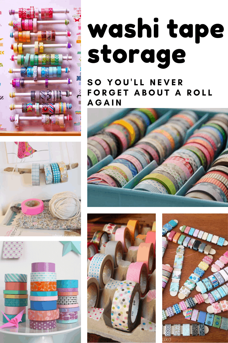 Loving these cute washi tape storage ideas - now I can finally organize my stash!