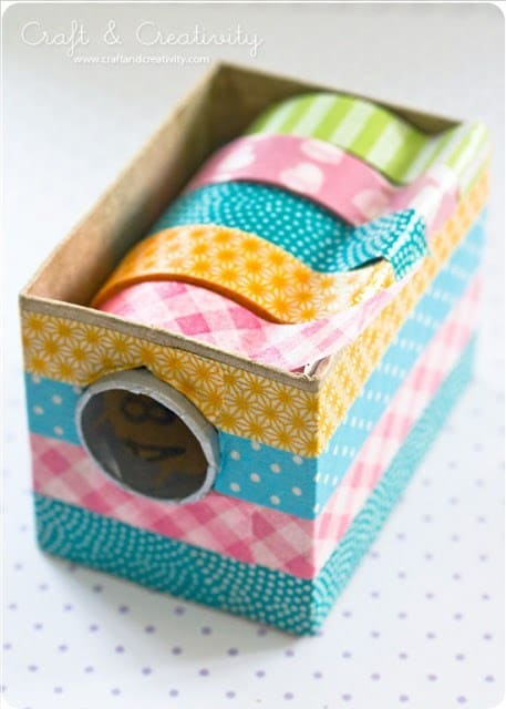 DIY Washi Tape Dispensers