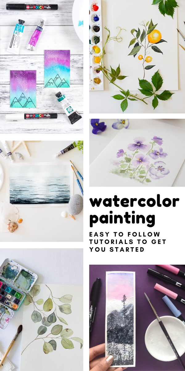 Loving these watercolor painting tutorials - so easy to follow with step by step instructions and videos. Great for self care!