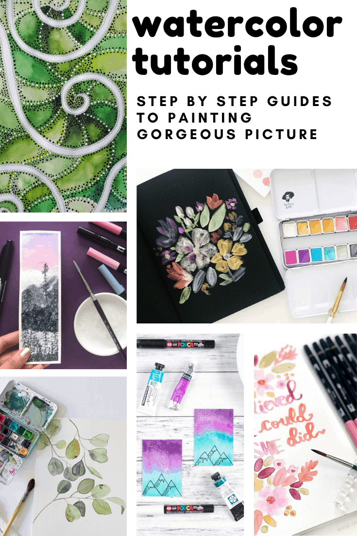 Loving these watercolor tutorials - easy to follow and a great way to make gifts for friends and family!