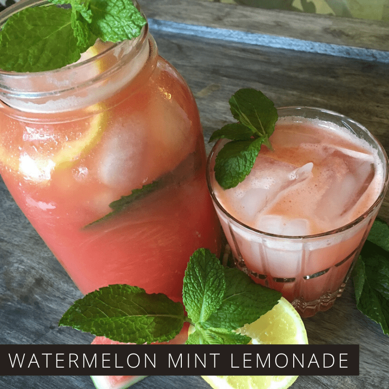 This Watermelon Mint Lemonade is easy to make and tastes delicious. It's perfect for summer picnics!