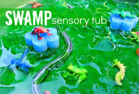 Swamp Sensory Tub - No Time For Flash Cards