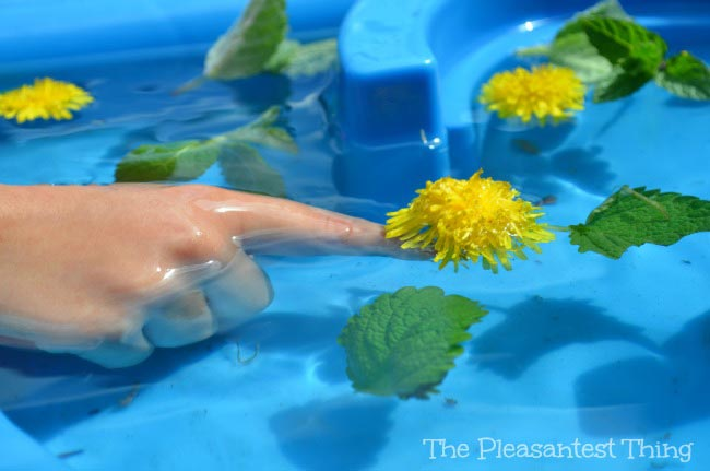 Sensory Spring Water Table - The Pleasantest Thing