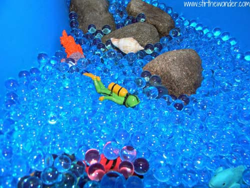 Ocean Sensory Table - Stir The Wonder