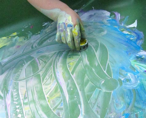 Sensory Tub Painting - No Time For Flash Cards