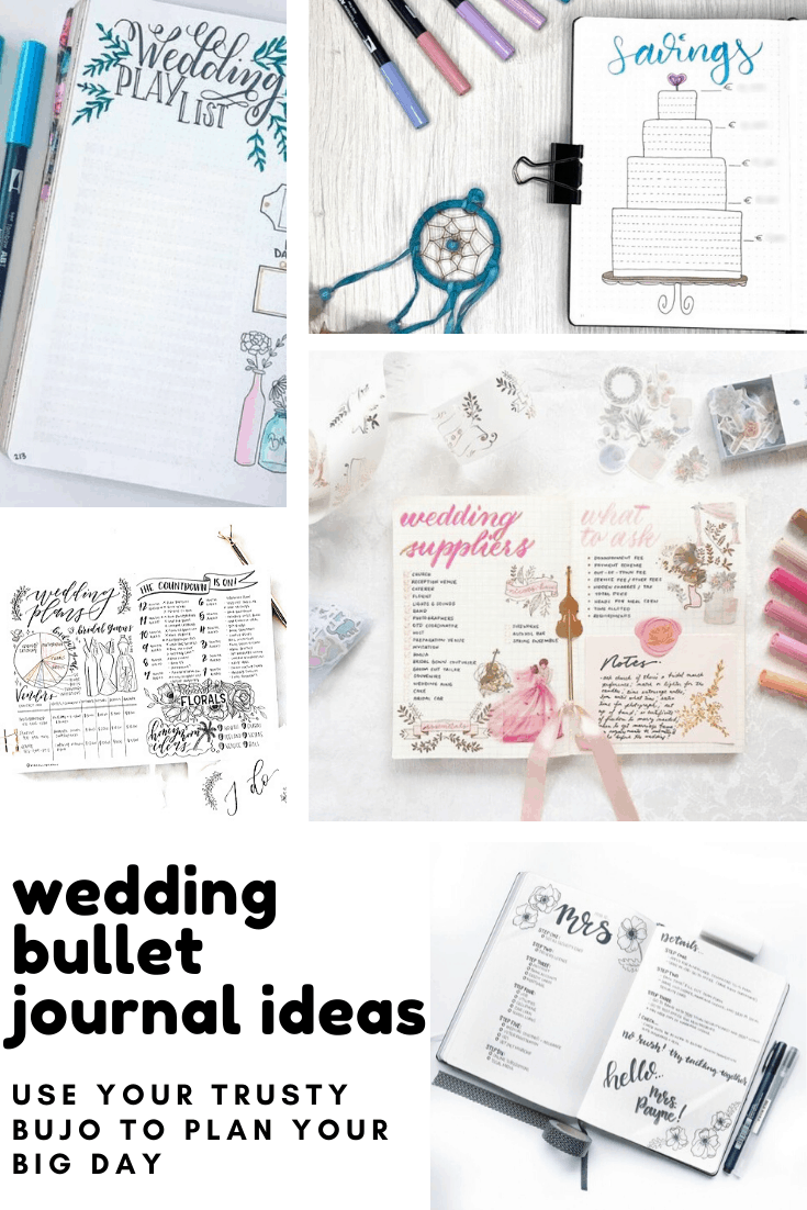 Loving these wedding bullet journal ideas - everything you need to keep track of planning your big day!