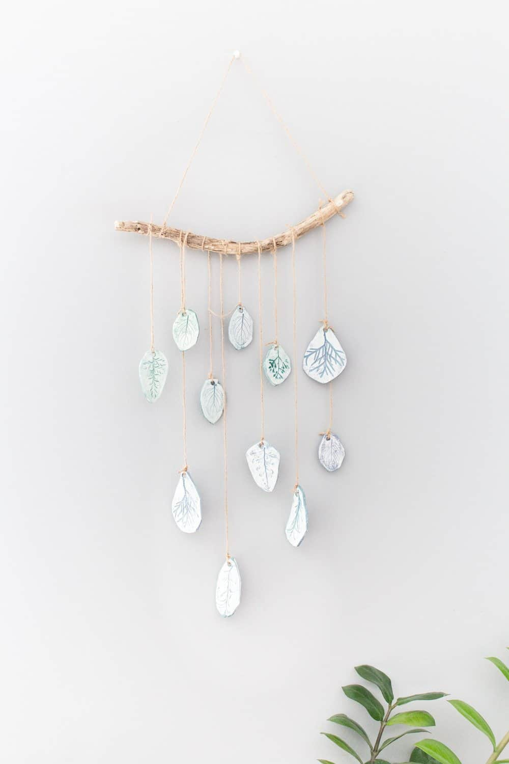 Clay wind chime wall hanging craft