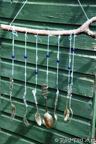 Knife and fork wind chime craft