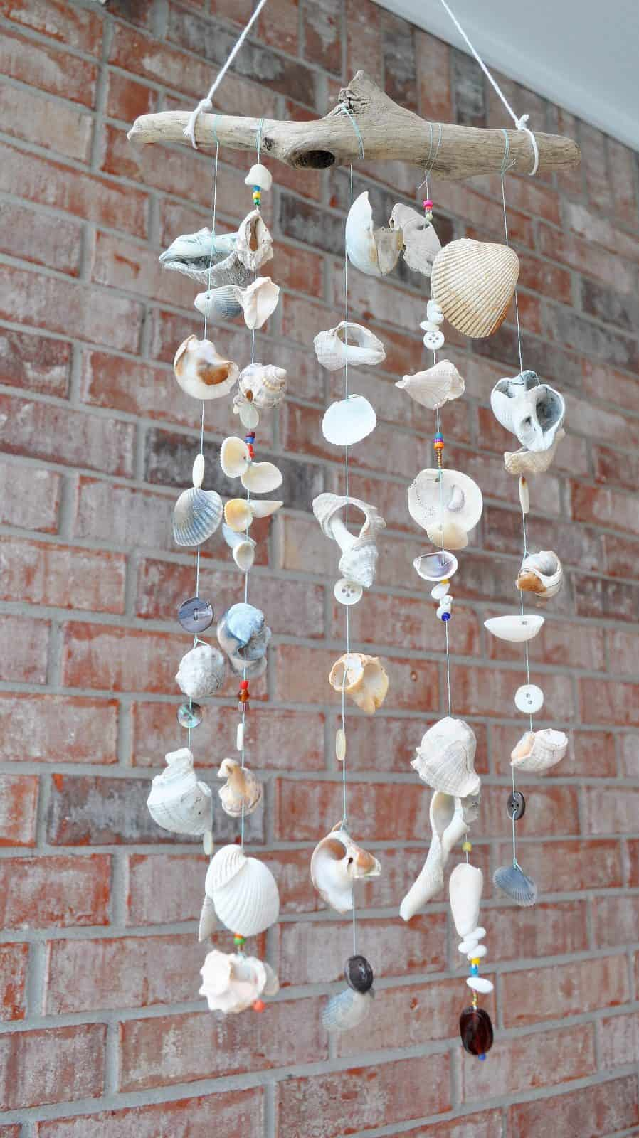 Seashell wind chime craft