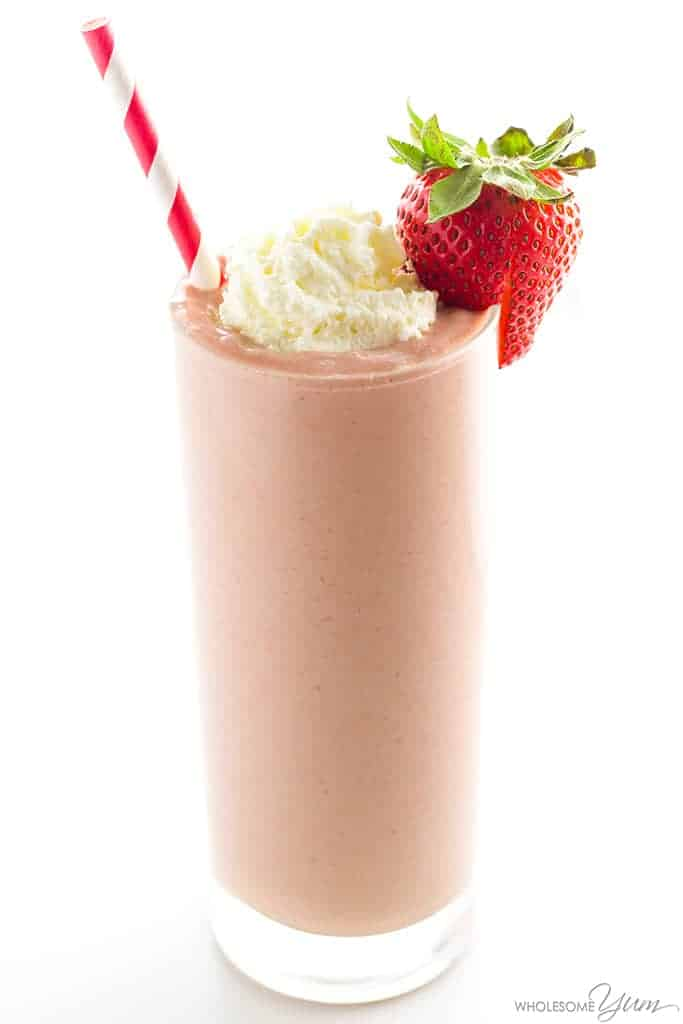 Keto Low Carb Strawberry Smoothie